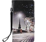 Недорогие -Кейс для Назначение SSamsung Galaxy S9 S9 Plus Бумажник для карт Кошелек со стендом Флип Магнитный Чехол Вид на город Твердый Кожа PU для