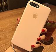 Недорогие -Кейс для Назначение Apple iPhone X iPhone 8 Защита от удара Кейс на заднюю панель Сплошной цвет Твердый Кожа PU для iPhone X iPhone 8