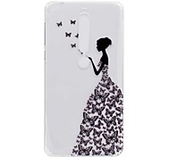 cheap -Case For Nokia Nokia 7 Plus Nokia 6 2018 Transparent Pattern Back Cover Sexy Lady Soft TPU for Nokia 7 Plus Nokia 6 2018 Nokia 6