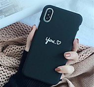 cheap -Case For Apple iPhone X / iPhone 7 Plus Pattern Back Cover Word / Phrase Hard PC for iPhone X / iPhone 8 Plus / iPhone 8