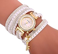 cheap -Women's Quartz Bracelet Watch Chinese Casual Watch Silicone Band Casual Bohemian Black White Blue Brown