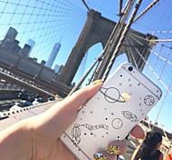 Недорогие -Кейс для Назначение Apple iPhone X iPhone 8 Plus Прозрачный С узором Кейс на заднюю панель Цвет неба Мягкий ТПУ для iPhone X iPhone 8