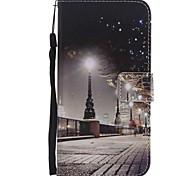 Недорогие -Кейс для Назначение SSamsung Galaxy J7 (2017) J5 (2017) Бумажник для карт Кошелек со стендом Флип Магнитный Чехол Вид на город Твердый