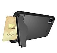 Недорогие -Кейс для Назначение Apple iPhone X iPhone 8 Бумажник для карт Защита от удара со стендом Кейс на заднюю панель броня Мягкий ТПУ для