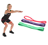 cheap -KYLINSPORT Exercise Bands/Resistance bands Suspension Trainer Yoga Pilates Exercise & Fitness Gym Athletic Training Rubber Loop Exercise
