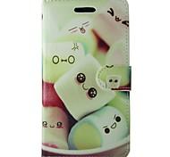 Недорогие -Кейс для Назначение SSamsung Galaxy A3(2017) Бумажник для карт Кошелек со стендом Флип Чехол Продукты питания Твердый Кожа PU для A3