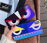 Недорогие -Кейс для Назначение Apple iPhone X iPhone 8 Защита от удара С узором Кейс на заднюю панель Мультипликация Твердый Закаленное стекло для