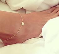 Недорогие -Ножной браслет - Сердце Богемные, Бикини, Мода Золотой / Серебряный Назначение Подарок / На выход / Жен.