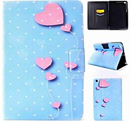 cheap -Case For Apple iPad mini 4 / iPad Pro 9.7 Flip Full Body Cases Heart Hard PU Leather for iPad Air / iPad 4/3/2 / iPad Mini 3/2/1