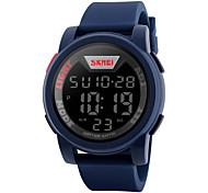 Недорогие -SKMEI Муж. Спортивные часы Новый дизайн / Защита от влаги / Хронометр Pезина Группа Мода / минималист Черный / Синий / Зеленый