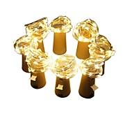 Недорогие -2m строковые огни # светодиоды теплые белые декоративные 3v батареи питаются 8 шт.