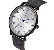 cheap -Men's Quartz Wrist Watch Chinese Chronograph / Large Dial / Casual Watch Alloy Band Minimalist / Fashion Black / Silver