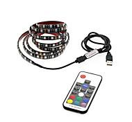 baratos -1m Faixas de Luzes RGB 30 LEDs Controlador remoto de 17 teclas RGB USB / Impermeável / Fundo de tv Carregamento USB 1conjunto