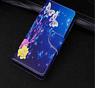 cheap -Case For Huawei P20 lite P20 Card Holder Wallet with Stand Flip Magnetic Full Body Cases Butterfly Hard PU Leather for Huawei P20 lite