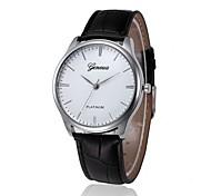 cheap -Men's Dress Watch Chinese Chronograph PU Band Casual Brown