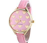 cheap -Xu™ Women's Quartz Wrist Watch Chinese Casual Watch PU Band Heart shape Creative Black White Pink
