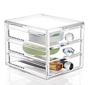 Недорогие -пластик Прямоугольная Новый дизайн Главная организация, 1шт Ящики / Хранение косметики / Органайзеры для стола