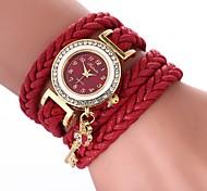 cheap -Women's Bracelet Watch Chinese Casual Watch / Imitation Diamond PU Band Bohemian / Fashion Black / White / Blue