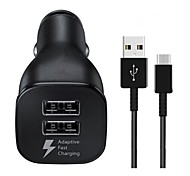 cheap -Car Charger USB Charger Universal QC 3.0 / Fast Charge / Charger Kit 2 USB Ports 3.1 A DC 5V S9 / S9 Plus / S8 Plus