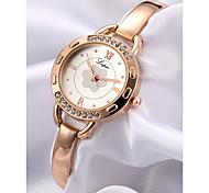 cheap -Women's Bracelet Watch Chinese Chronograph / Imitation Diamond / Wooden Alloy Band Flower / Bangle Rose Gold