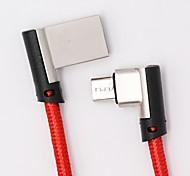 Недорогие -Micro USB Адаптер USB-кабеля Плетение / Быстрая зарядка Кабель Назначение Samsung / Huawei / Nokia 168cm текстильный