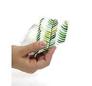 Недорогие -Кейс для Назначение Apple iPhone X / iPhone 7 Ультратонкий / С узором / Милый Кейс на заднюю панель Растения Мягкий ТПУ для iPhone X /