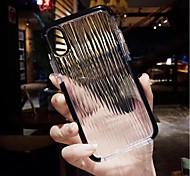 Недорогие -Кейс для Назначение Apple iPhone X / iPhone 8 Прозрачный Кейс на заднюю панель Полосы / волосы Мягкий ТПУ для iPhone X / iPhone 8 Pluss /