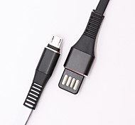 cheap -Micro USB USB Cable Adapter Flat Cable For Samsung / Huawei / Nokia 100cm PET