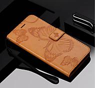 Недорогие -Кейс для Назначение Motorola MOTO G6 / Moto G6 Plus Кошелек / Бумажник для карт / со стендом Чехол Бабочка Твердый Кожа PU для Moto Z Force / Moto X Style / MOTO G6