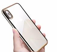 Недорогие -Кейс для Назначение Apple iPhone X / iPhone 8 Покрытие / Ультратонкий / Полупрозрачный Кейс на заднюю панель Полосы / волосы Мягкий ТПУ