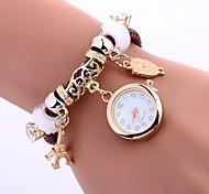 preiswerte -Damen Armband-Uhr Chinesisch Imitation Diamant / Armbanduhren für den Alltag PU Band Eiffelturm / Eule Schwarz / Blau / Rot