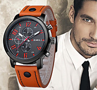 cheap -Men's Wrist Watch Chinese Cool Leather Band Casual / Fashion Black / Blue / Orange