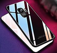 Недорогие -Кейс для Назначение SSamsung Galaxy S9 S9 Plus Зеркальная поверхность Кейс на заднюю панель Однотонный Твердый Закаленное стекло для S9