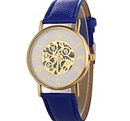 cheap -Xu™ Women's Wrist Watch Chinese Creative / Cool / Large Dial PU Band Minimalist / Skeleton Black / White / Blue