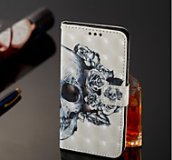 cheap -Case For Samsung Galaxy A6+ (2018) / A6 (2018) Wallet / Card Holder / with Stand Full Body Cases Skull Hard PU Leather for A6 (2018) /