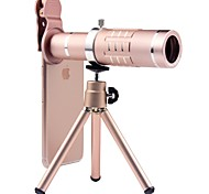 cheap -Mobile Phone Lens Wide-Angle Lens Aluminium Alloy 18X Macro 3 m 70 ° Lens with Stand