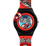 Недорогие -SKMEI Муж. / Жен. Наручные часы / электронные часы Китайский Новый дизайн / Милый PU Группа Мода / минималист Красный / Серый / Желтый