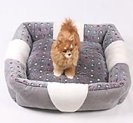 Недорогие -Мини / Сохраняет тепло / Мягкий Одежда для собак Кровати В клетку / Мода Серый Собаки / Кролики / Коты