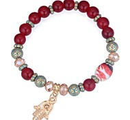 cheap -Women's Synthetic Tanzanite Strand Bracelet - Vintage, Fashion Bracelet Coffee / Red / Blue For Daily / Date