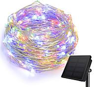 Недорогие -KWB 10 м Гирлянды 100 светодиоды 1 монтажный кронштейн Тёплый белый / Белый / Синий Работает от солнечной энергии / Творчество / Водонепроницаемый Солнечная энергия 1 комплект