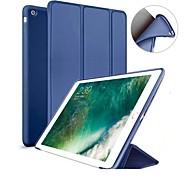 abordables -Funda Para Apple iPad (2018) / iPad (2017) con Soporte / Magnética Funda de Cuerpo Entero Un Color Dura Silicona para iPad Air / iPad 4/3/2 / iPad Mini 3/2/1