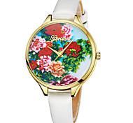 Недорогие -Geneva Жен. Наручные часы Китайский Новый дизайн / Повседневные часы / Cool Кожа Группа На каждый день / Мода Черный / Белый / Красный