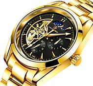 cheap -Men's Couple's Dress Watch Mechanical Watch Gold Watch Japanese Automatic self-winding Stainless Steel Silver 30 m Water Resistant / Waterproof Noctilucent Large Dial Analog Classic Casual Fashion -
