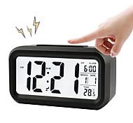 cheap -BRELONG Digital Month Temperature Date Shows Snooze Alarm Clock Night Light