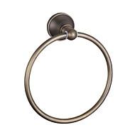 お買い得  浴室用小物-タオルバー 高品質 アンティーク 真鍮 1枚 - ホテルバス タオルリング