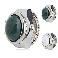 cheap Ring Watches-Women's Ring Watch Japanese Quartz Casual Watch Alloy Band Analog Charm Fashion Silver - White Green