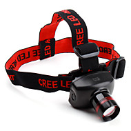 Headlamps Headlight LED 480 lm 3 Mode Cree XR-E Q5 Zoomable Adjustable Focus Super Light Compact Size Small Size Cycling/Bike