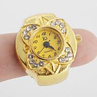 abordables Relojes Anillo-Mujer Reloj de Anillo Japonés Cuarzo Reloj Casual Aleación Banda Flor Vintage Dorado - Dorado Un año Vida de la Batería / SSUO SR626SW