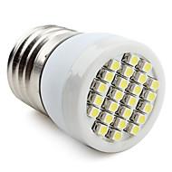 baratos Lâmpadas de Foco de LED-60-80 lm E26/E27 Lâmpadas de Foco de LED 24 leds SMD 3528 Branco Natural AC 220-240V