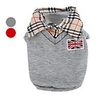 economico Acessori Per la famiglia e per animali-Cane T-shirt Abbigliamento per cani Formale Grigio Rosso Cotone Costume Per animali domestici Per uomo Classico